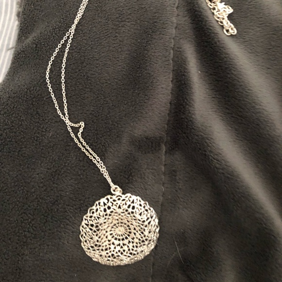 Jewelry - Sterling silver pendant and chain stamped 925